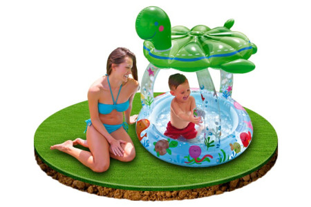 Piscina infantil hinchable forma de tortuga de Intex