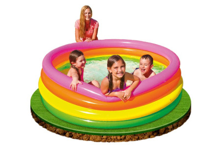 Piscina hinchable con 4 aros Sunset de Intex