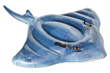 Flotador de Pez Raya hinchable, 193 x 119 cm. Intex 57550