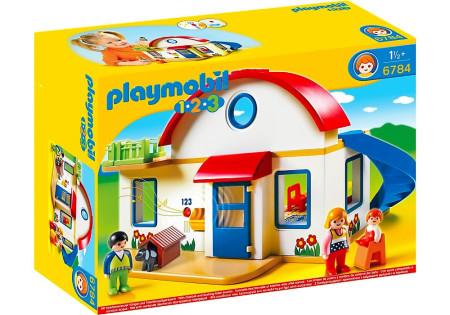 Playmobil 6784 1 2 3 casa moderna dos plantas y m s for Casa playmobil 123