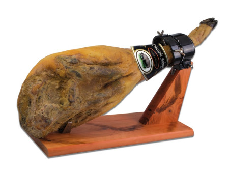 Soporte jamonero de madera articulado de Quttin