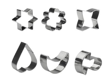 Cortapastas 6 piezas de acero inoxidable de Ibili