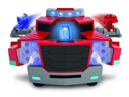 Camión Transformers con lanzadiscos de Dickie