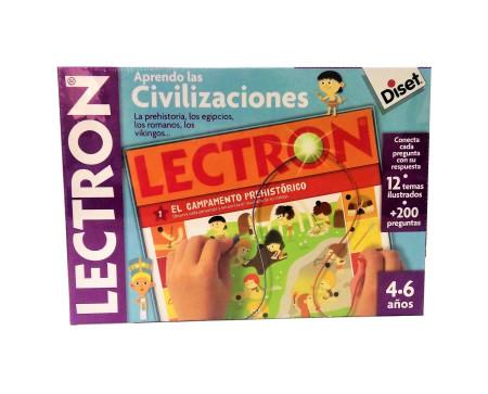 Juego Lectron 'Aprendo las Civilizaciones' con 12 temas ilustrados de Diset