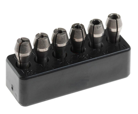 Set de pinzas de fijación de acero MICROMOT con soporte de Proxxon