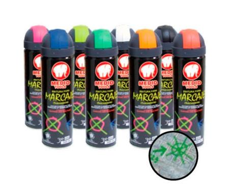 Spray para marcaje, Naranja, 500 ml, Medid 2813