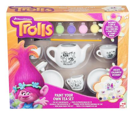 Pinta juego de té de Trolls con 6 botes de pintura de la marca Sambro