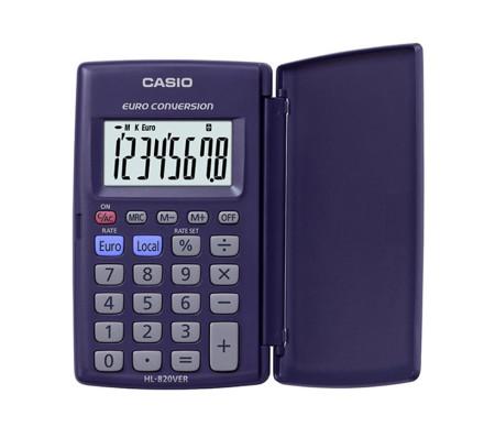 Calculadora de bolsillo con tapa de protección de Casio