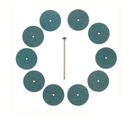 10 discos abrasivos de corindón refinado de Proxxon