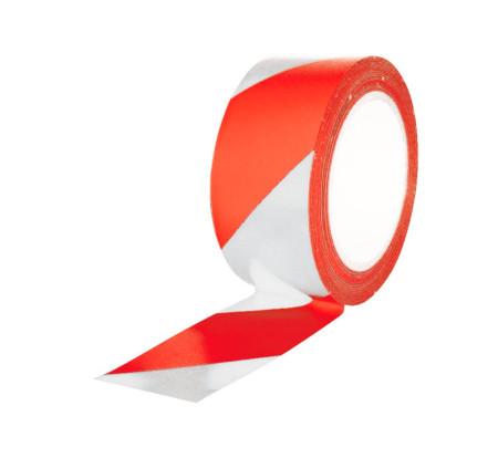 Cinta Adhesiva para señalización, Roja-Blanca, CV Tools 1564