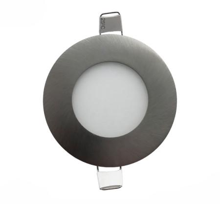 Downlight LED redondo níquel 5W de la serie Apolo de Led Ecoplus