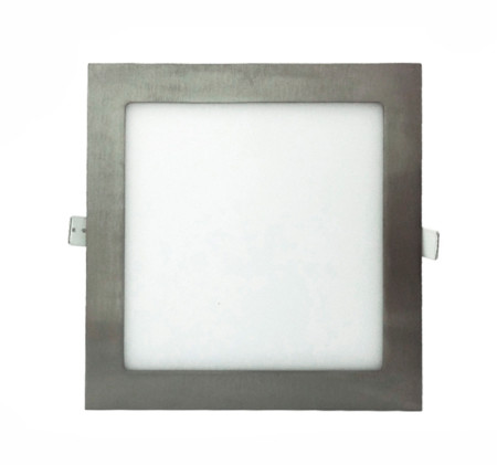Downlight LED cuadrado de color níquel de 18W de la serie Anubis de Led Ecolamp