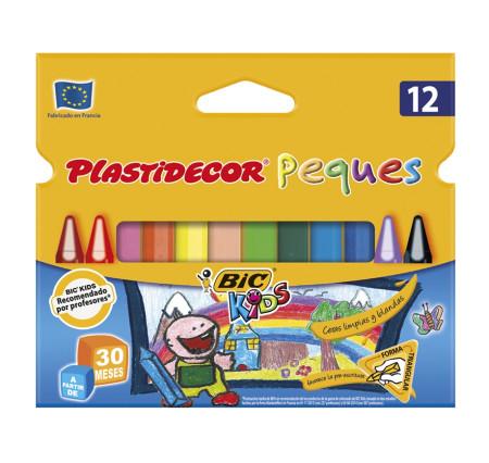 Pack 12 ceras de colores Plastidecor Peques