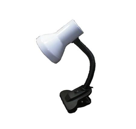Lámpara escritorio con pinza de sujeción, color blanco, de GSC Evolution