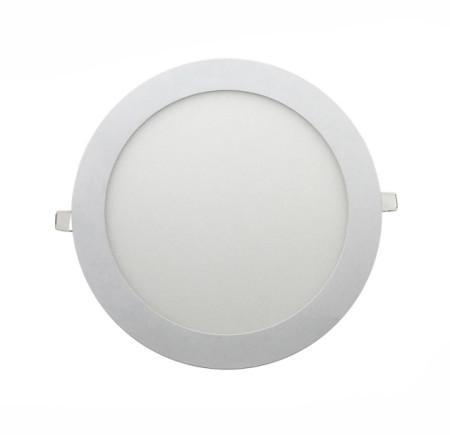 Downlight LED 12 W redondo blanco, serie Apolo de Led Ecoplus