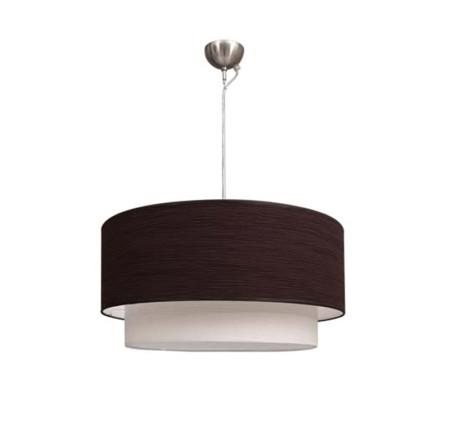 Lámpara colgante de doble cilindro, marrón y blanco, de la serie Planetario de Fabrilamp