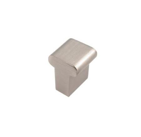 Tirador pomo cromado para muebles de forma cuadrada y con acabado níquel cepillado de Nesu