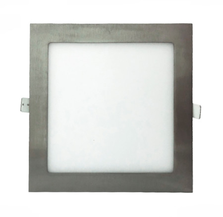 Downlight LED cuadrado de 12W color níquel de la serie Anubis de Led Ecoplus