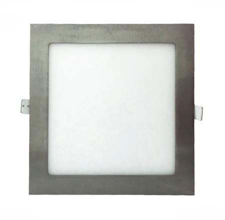 Donwlight LED cuadrado 12W níquel de la serie Agamenom de Led Ecoplus