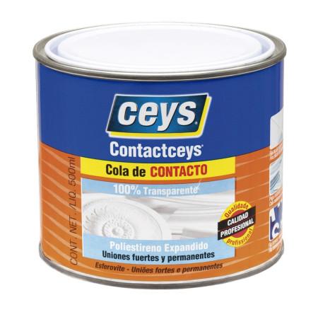 Cola de contacto transparente de Ceys
