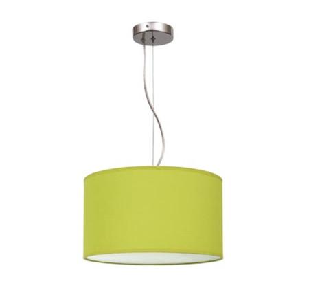 Lámpara colgante de techo de la serie Nicole, color verde pistacho, de Fabrilamp