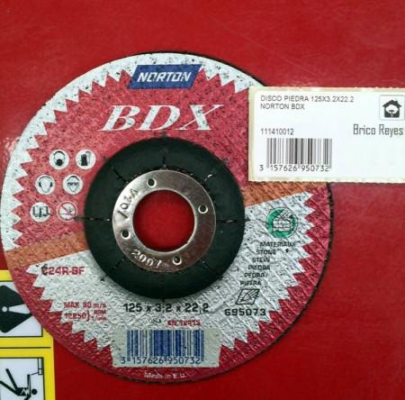Disco de corte para piedra  Ø125. Norton BDX C24R-BF