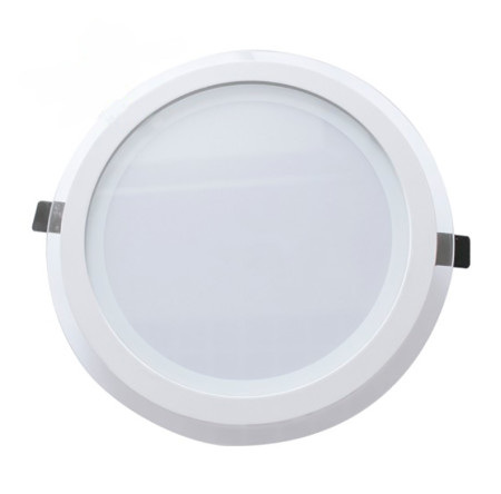 Downlight LED redondo cristal blanco de 22W de GSC Evolution