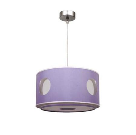 Lámpara colgante de techo infantil, color lila, serie Círculo, de Fabrilamp