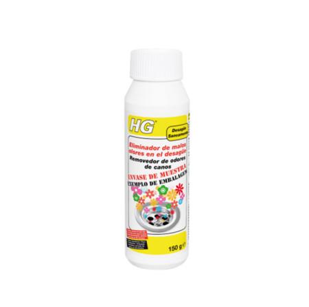 Eliminador de malos olores para el desague de HG