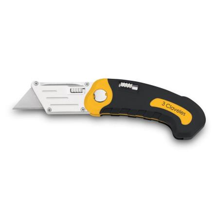 Cutter navaja plegable, 3 Claveles 00215