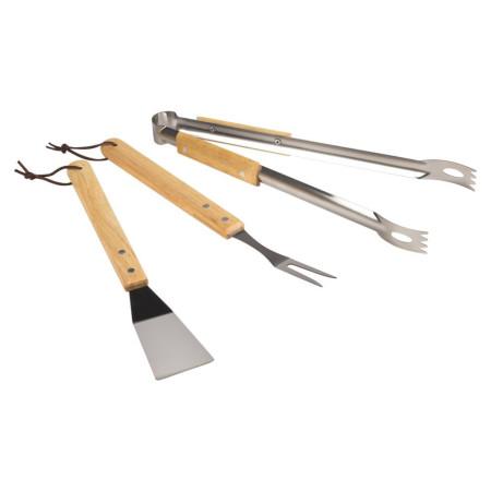 Set de 3 utensilios de acero inoxidable para barbacoas de Aktive
