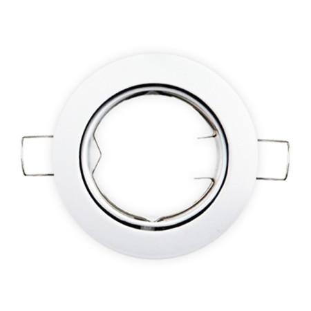 Aro empotrable redondo basculante de color blanco, de GSC Evolution