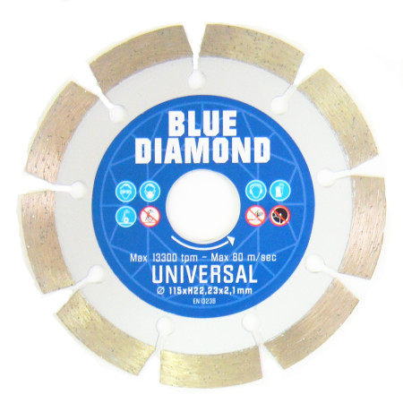 Disco de diamante, para obra general, Ø 115, Blue Diamond