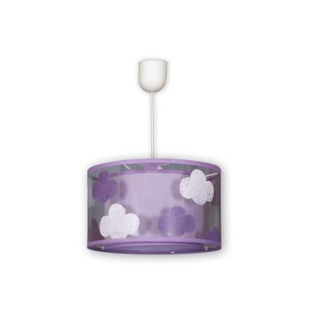 Lámpara colgante infantil de la serie Nube, de color lila, de Fabrilamp