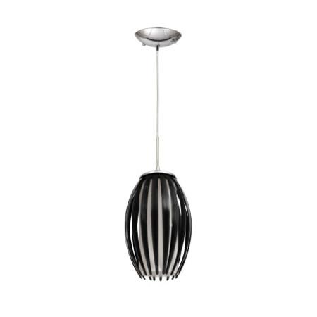 Lámpara colgante de techo negro, serie Lola, de Fabrilamp