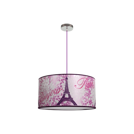 Lámpara infantil serie Eiffel, color rosa, de Fabrilamp