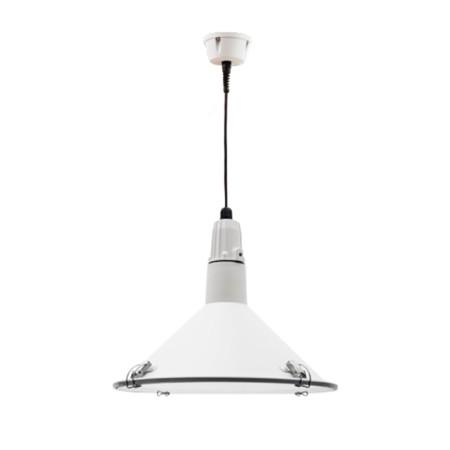 Lámpara colgante de la serie Alejandría, color blanco, de Fabrilamp