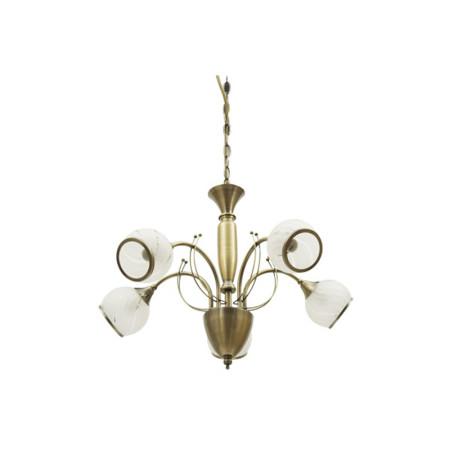 Lámpara colgante de techo, serie Remo, color cuero, de Fabrilamp