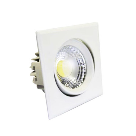 Aro empotrable basculante LED cuadrado, color blanco, GSC Evolution