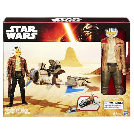 Moto Speeder con Poe Dameron de Star Wars, Hasbro