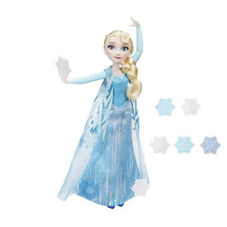 Frozen, muñeca Elsa copos mágicos, Hasbro B9204EU4