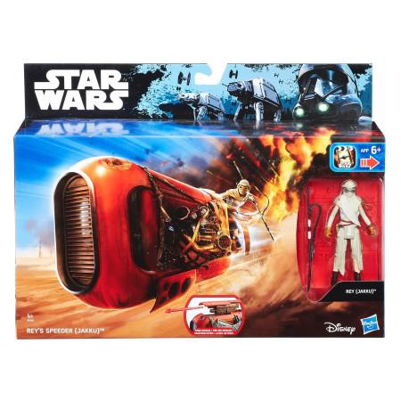 Vehículo Speeder con figura de Rey de Star Wars