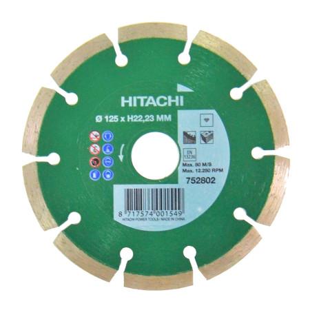 Disco de diamante para obra general, Ø 125, Hitachi 752802