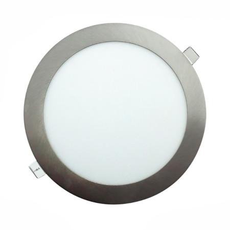 Downlight LED redondo de color níquel, 18W, de la serie Aquiles de Led Ecoplus