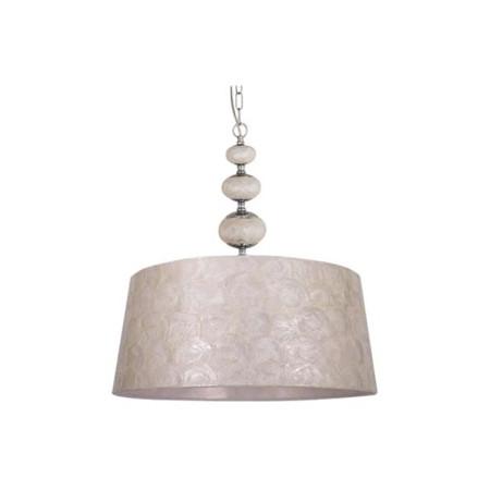 Lámpara de techo colgante de 3 bolas, de la serie Nácar, color cromo, de Lumit