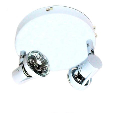Plafón con 2 focos halógenos redondo, de color blanco, de la serie Daniel de Lumit