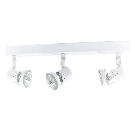 Plafón con 3 focos halógenos de la serie Daniel, color blanco, de Lumitv