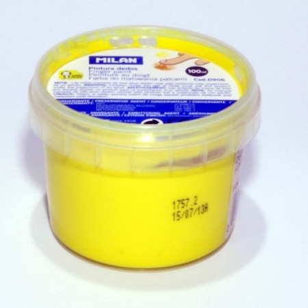 Pintura dedos de Milan color amarillo