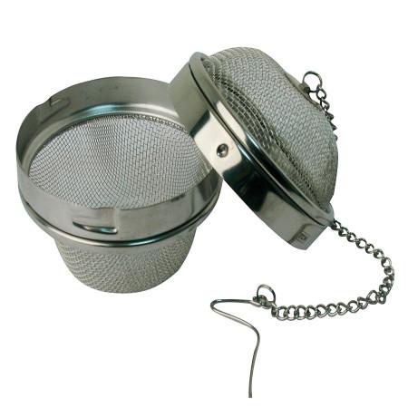 Bola coladora para té y especias de acero inoxidable
