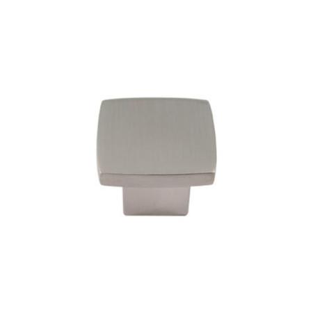Tirador pomo mueble, forma cuadrada, 25 x 25 mm, níquel cepillado de Nesu
